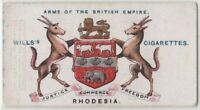 Rhodesia  Africa  British Empire Coat Arms Now  Zimbabwe 100+ Y/O Trade Ad Card