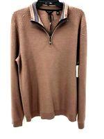 Ted Baker Men's Sweatshirt Size Large Pullover Long Sleeve Dusty Pink 1/4 Zip