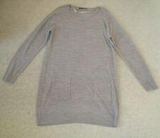 Women's ATMOSPHERE Jumper Dress Size 14 UK Light Brown Pockets