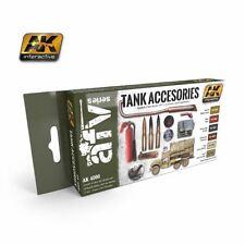 AK Interactive - Tank Accessories - 6 bottle acrylic paint set