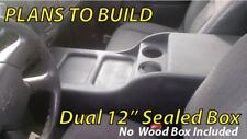 "PLANS Center Console Speaker Enclosure Box 12"" Chevy Silverado Regular Cab Truck"
