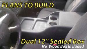 "Center Console Speaker Box 12"" PLANS ((READ)) Chevy Silverado Tahoe GMC Yukon"