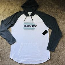 Hurley Men's Sm One & Only Sunset T-Shirt Hoodie Tee Raglan Long Sleeve NEW NWT