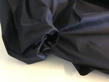 "New Dark Navy Colour 100% Silk Dupion Fabric 54"" 137cm For 0.5 1/5 Metre Dress"