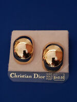 Statement Vintage Christian Dior Earrings Sold Goldtone w/ 14K Posts NOC Card