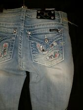 """Miss Me Jeans size 30 (junior size 17) NWT 34"""" inseam Light Blue"""