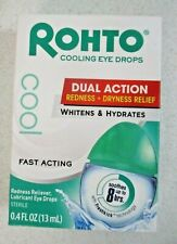 Rohto Cool Eye Drops EXP 12/21 Dual Action Redness +Dryness Relief 0.4 oz 0749*