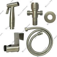 Toilet HandHeld Shower Shattaf Bidet Sprayer Spray Douche kit Stainless Steel