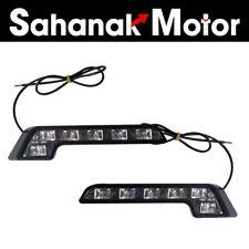 2x Car Auto Daytime Running Light 6LED DRL Fog Drive Daylight White Head Lamp