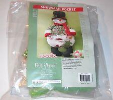 Felt Street Snowman Pocket Candy Dish Soft Sculpture Kit NEW