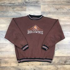 90s Vintage Cleveland Browns Crewneck Sweatshirt Retro Embroidered Adult Mens XL
