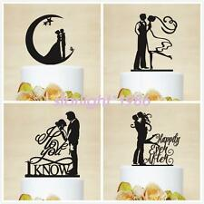 High Quality Groom Bride Acrylic Silhouette Anniversary Wedding Cake Toppers