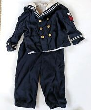 Vintage Sailor Baby Clothes Jack and Jill Togs Infant Size 2T Overall Jacket