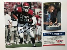Adrian Peterson signed full name rookiegraph Oklahoma 8x10 Photo PSA/DNA cert