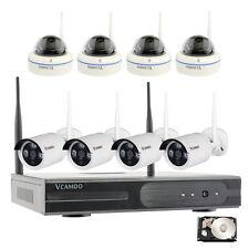 8CH 1MP IP Cameras Kit Completi Wireless Videosorveglianza Telecamere TVCC 1TB