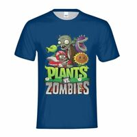 Plants VS Zombies Cartoon Youth T-shirt  Summer Boy Short Sleeve Cool Tee Funny