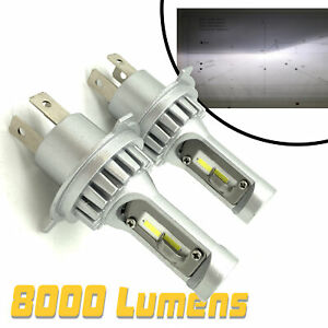 Micro H4 V12 CSP LED Headlight Bulbs Kit 8000lm! For Renault Clio Up To 01 Traff