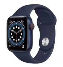 Apple Watch Series 6 40mm Blue Aluminum Case with Deep Navy Sport Band...