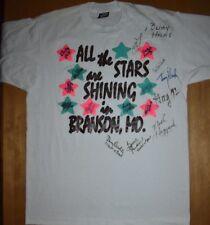 Vintage Branson Missouri Autograph Shirt Mickey Gilley Charley Pride Bobby Helms