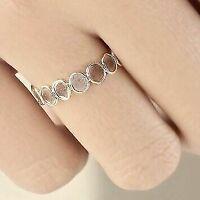 Rose Cut Polki Diamond Gemstone Pave Fine Jewelry 925 Sterling Silver Ring SE