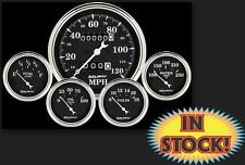Auto Meter Old Tyme Black 5-Gauge Kit Box with Mechanical Speedo - 1708
