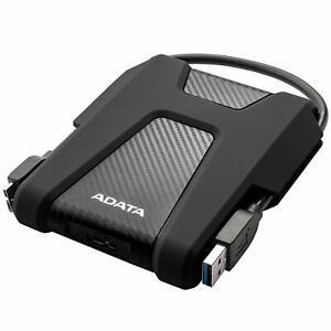 ADATA HD680 BLACK 1TB External HDD USB3.2 Military-Grade Protection Shock Sensor