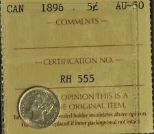 Canada 1896 5 Cent Piece - ICCS -- AU50 -