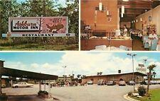 Ashburn Georgia~Motor Inn~Honeybear Restaurant Interior~Waitress~1960s Cars
