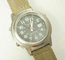 Casio Men's WVQ140A Wave Ceptor Watch Olive Fabric Strap Analog Digital Dial