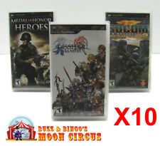 10x SONY PSP GAME CLEAR PROTECTIVE BOX PROTECTOR SLEEVE CASE - FREE SHIPPING!