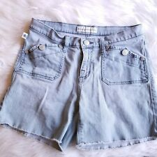 Rock & Republic Women's Light Washed Frayed Denim Jean Shorts Stinger Size 10