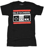 Nintendo Old School Controller Black Men's Graphic T-Shirt New