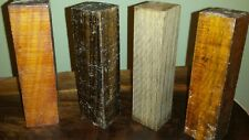 "Wood Turners Variety Pack  B - 4 Exotic Wood Turning Blanks 1.5"" x 1.5"" x 6"""