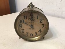 Rare Antique Ingraham Dawn Model Alarm Clock 1890's Patent