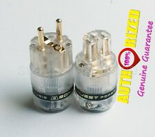 ST-GE(T) & ST-GC(T) CRYO Gold Plated Audio Grade EU Power Plug By SonarQuest