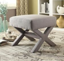 Coaster Grey Upholstered Contemporary 21.5 inch Square Ottoman NEW