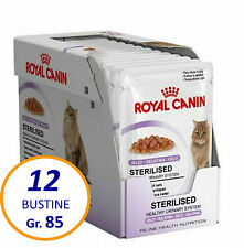 12 BUSTINE Royal Canin Sterilised in Gelatina 85 gr. Gatti Sterilizzati