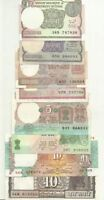 Extremely Rare India Old Currency 8 Different Notes Set UNC GEM  - Rupees, Rs