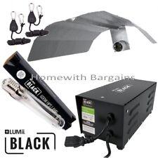 600w LUMii BLACK Magnetic Ballast Grow Flower Light Kit HPS Dual Spectrum Bulb,