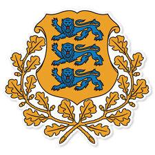 """ESTONIA Coat of Arms car bumper sticker decal 4"""" x 4"""""""