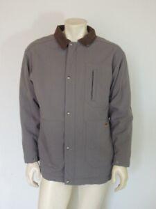 Patagonia Men's Gray Canvas Jacket with Pile Fleece Lining 27640 Size MEDIUM