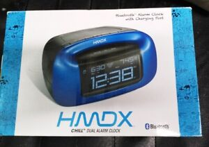 HMDX Chi  Alarm Clock Blue. Brand New. Sealed.