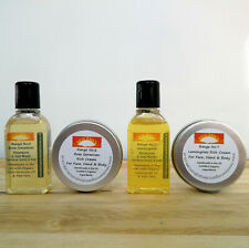 LARGE OPEN PORES Remedies - Organic Facial Pore Wash or Soap & Cream Sample Pack