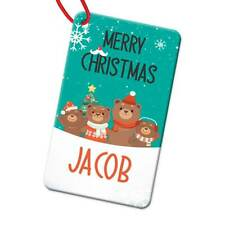 Personalised Any Name Rectangle Christmas Bauble Tree Decoration Gift 114