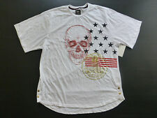 Enyce Mens Size 3X Skull Gold Snap Side Red Black & Gold Graphic T Shirt New