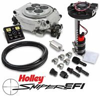 Holley Sniper EFI 550-510D 4BBL Fuel Injection Returnless Master Kit Shiny