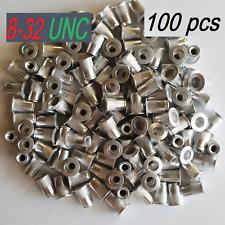 100 Pcs 8-32 Aluminum  Flange Nutserts Rivet Nut Rivnut Nutsert