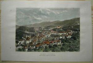 1894 Reclus print OURO PRETO, MINAS GERAIS, BRAZIL (#20)