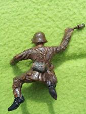 Elastolin Figurine soldat German hand grenade Suisse army soldier Lineol WW1 WW2