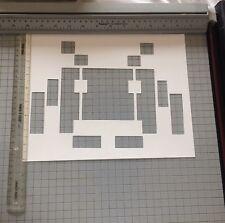 Space Invader Street Art  Stencil Large